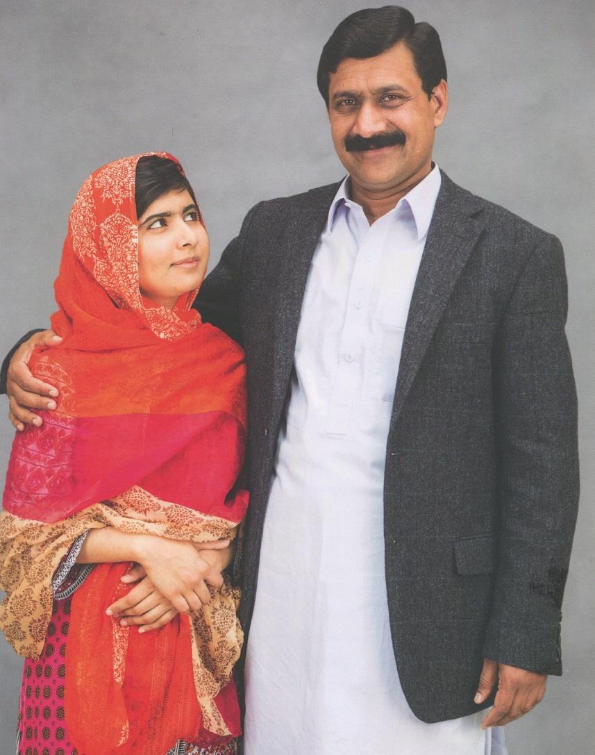 Resultado de imagem para Ziauddin Yousafzai e malala