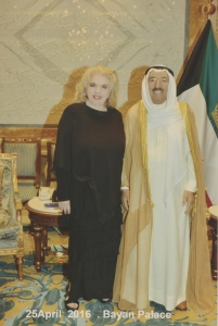 So lovely to meet the Emir of Kuwait, someone I greatly admire and respect